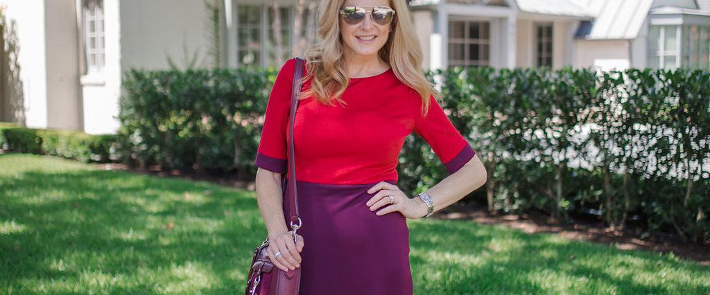 Nordstrom NSale, color block dress, dress for work, professional dress