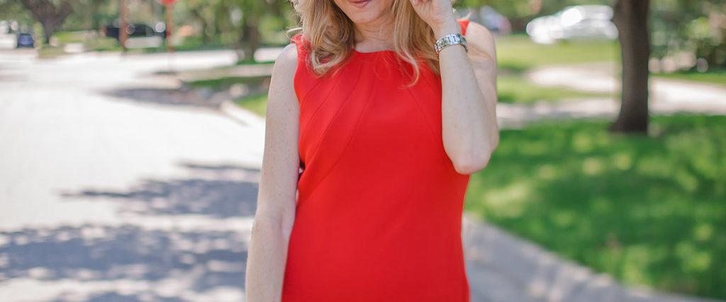 Nordstrom Anniversary Sale, NSale, red dress, Elaine Turner bag