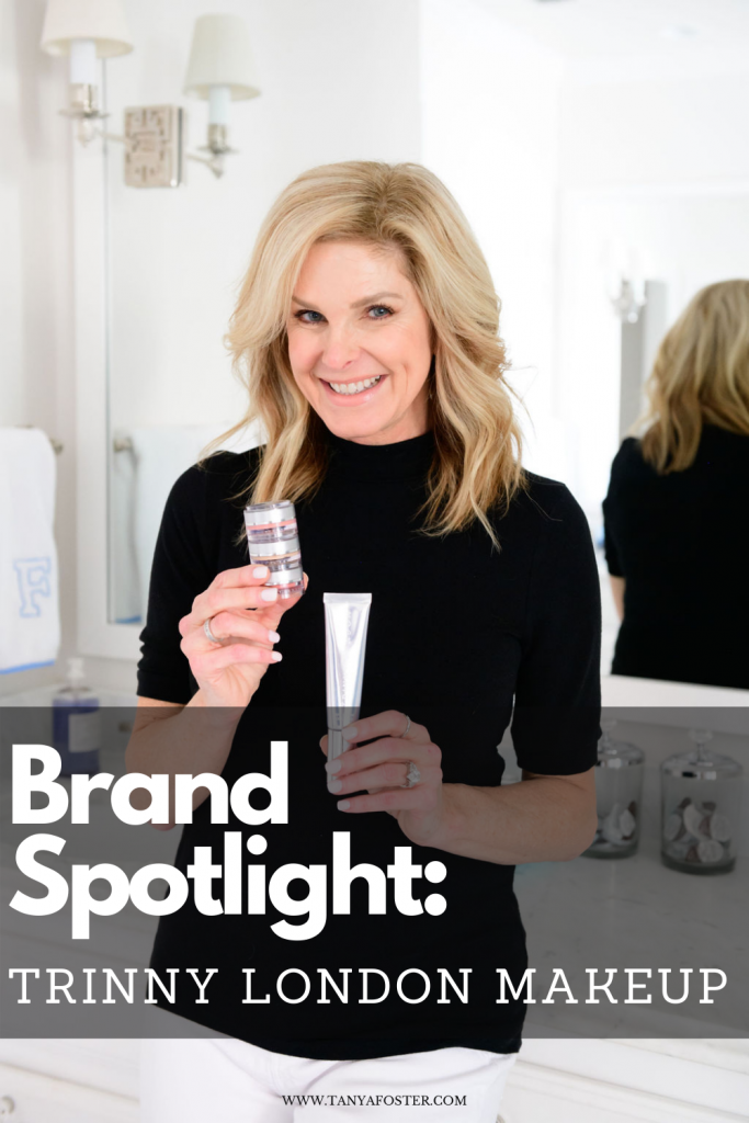 Tanya Foster holding Trinny London product brand spotlight: trinny london makeup