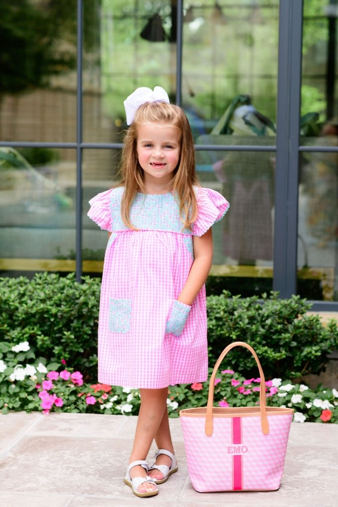 girl in a J. Marie dress