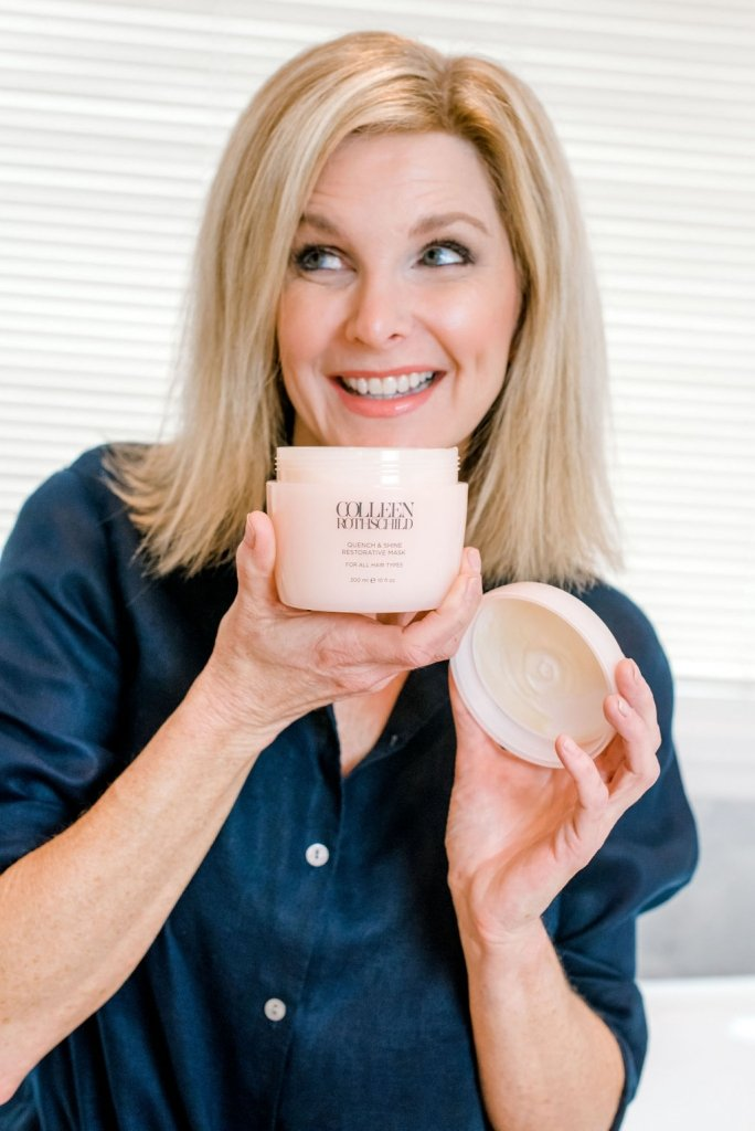 Colleen Rothschild's best sellers - 25% off!   Colleen Rothschild's Sale! by popular Dallas beauty blogger, Tanya Foster: image of a woman holding a container of Colleen Rothschild facial cream.