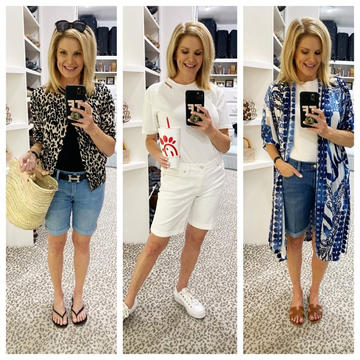 tanya foster in three looks with talbots girlfriend denim jean shorts