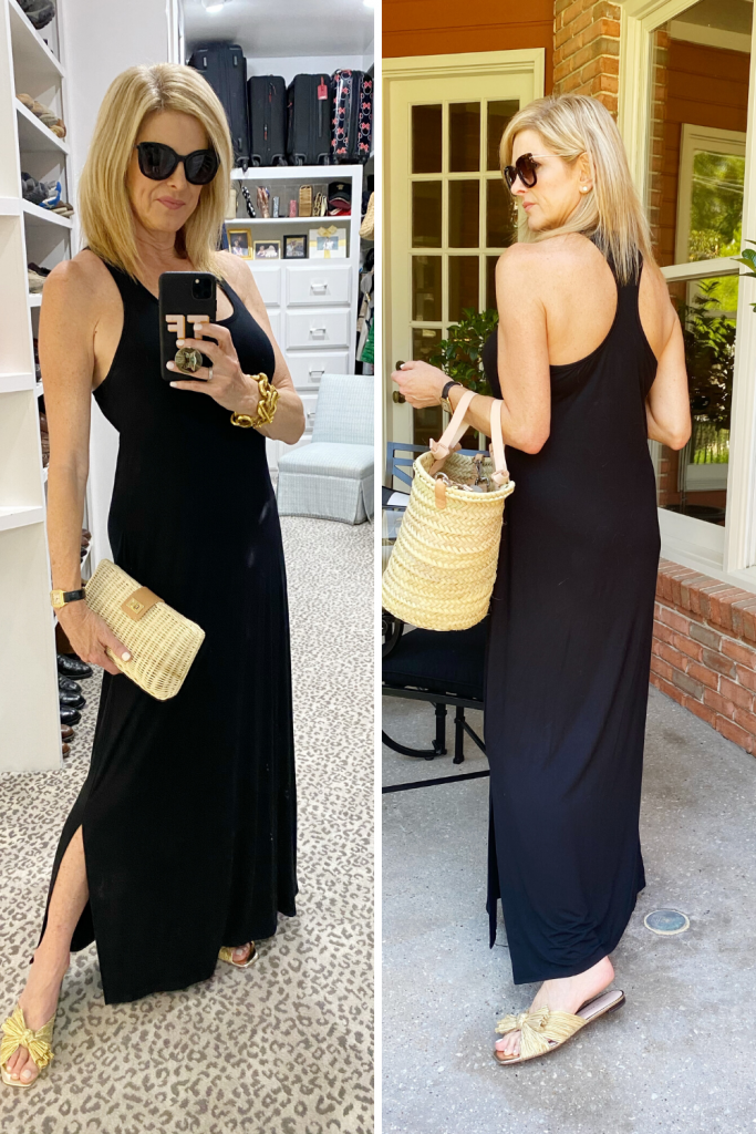 tanya foster in soma black maxi dress