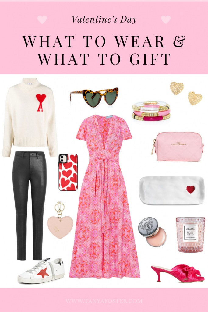 what to wear & what to gift valentine's day gift ideas and what to wear collage